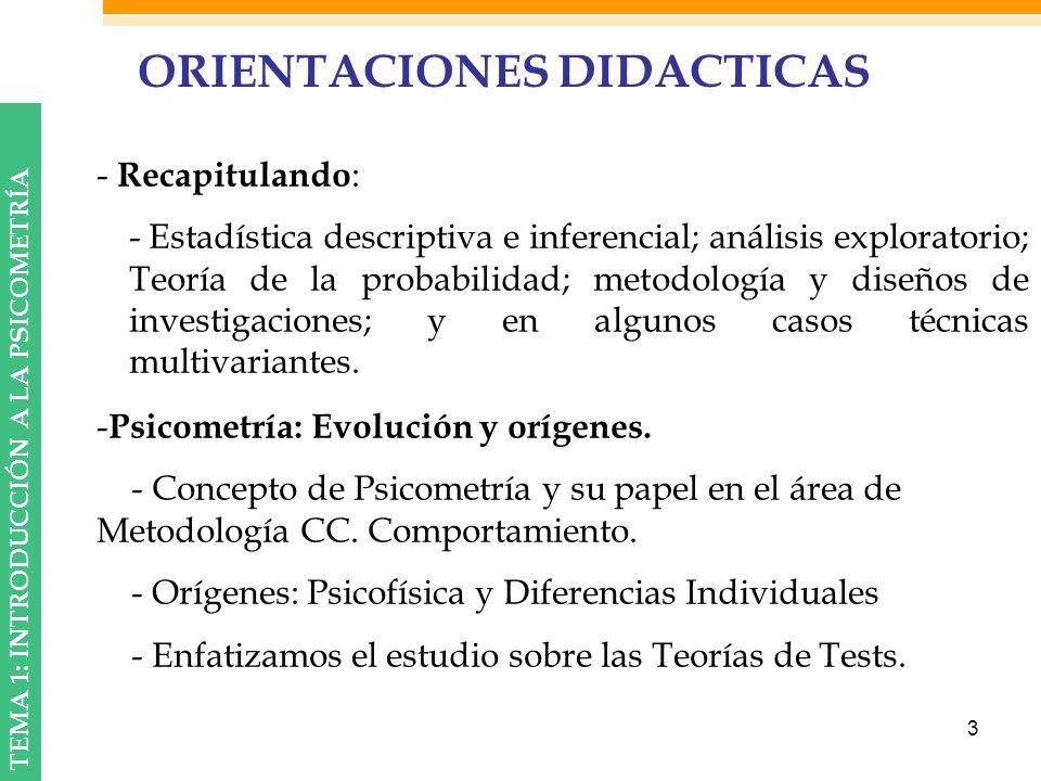 ORIENTACIONES DIDACTICAS