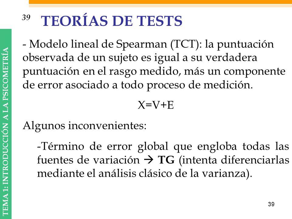 39 TEORÍAS DE TESTS.