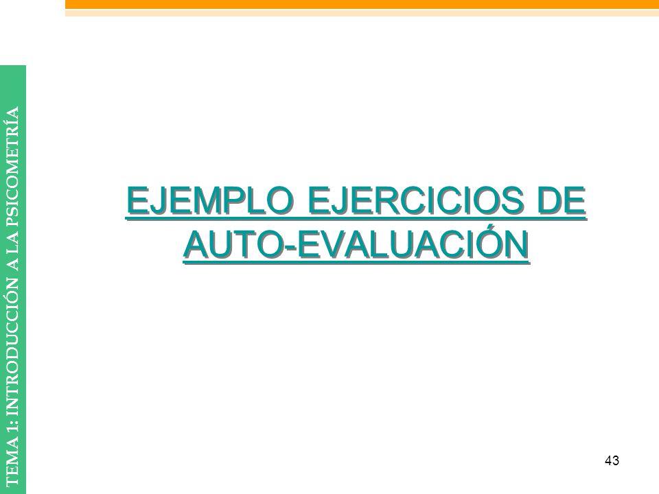 EJEMPLO EJERCICIOS DE AUTO-EVALUACIÓN