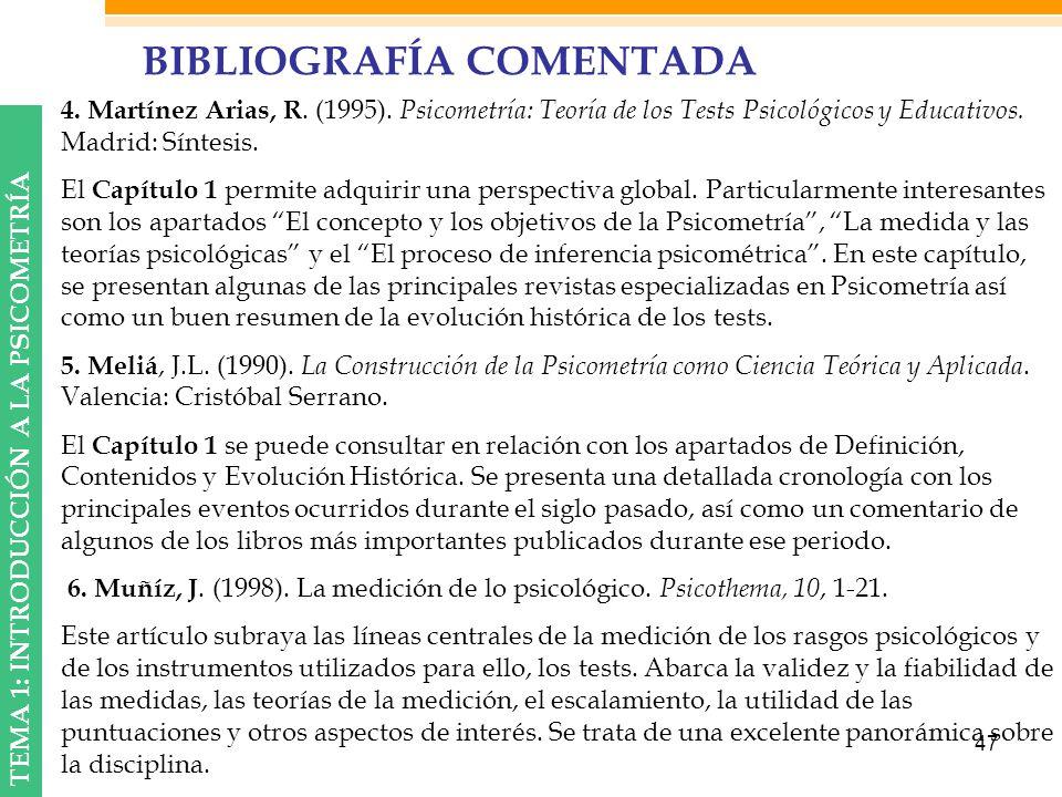 BIBLIOGRAFÍA COMENTADA