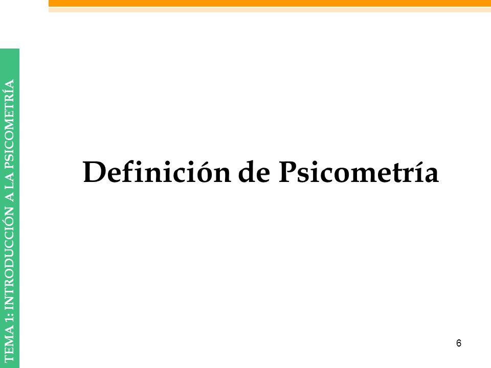 Definición de Psicometría