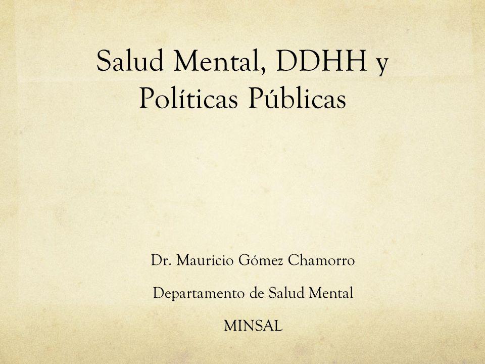 Salud Mental, DDHH y Políticas Públicas