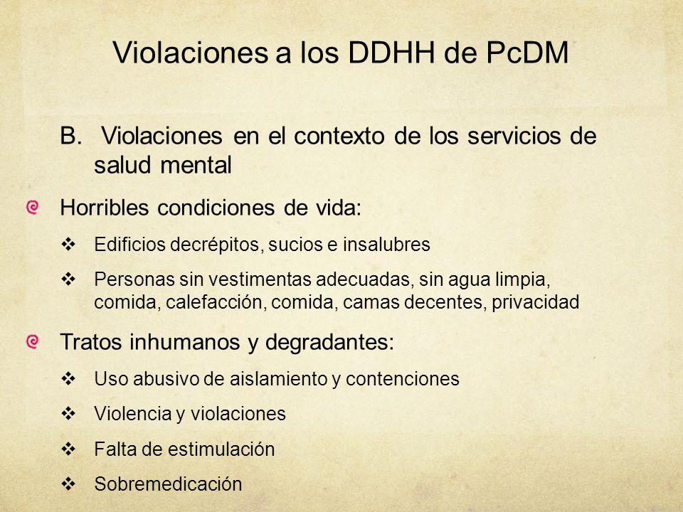 Violaciones a los DDHH de PcDM
