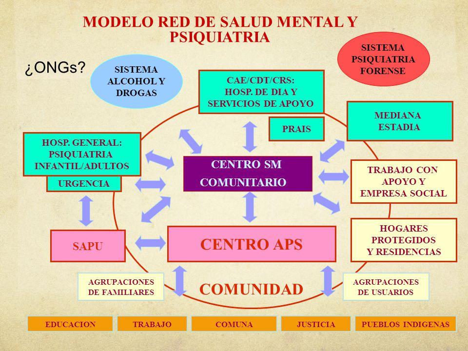 MODELO RED DE SALUD MENTAL Y PSIQUIATRIA