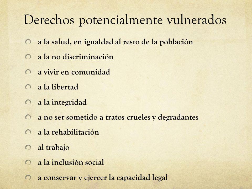 Derechos potencialmente vulnerados