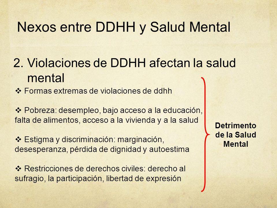 Detrimento de la Salud Mental