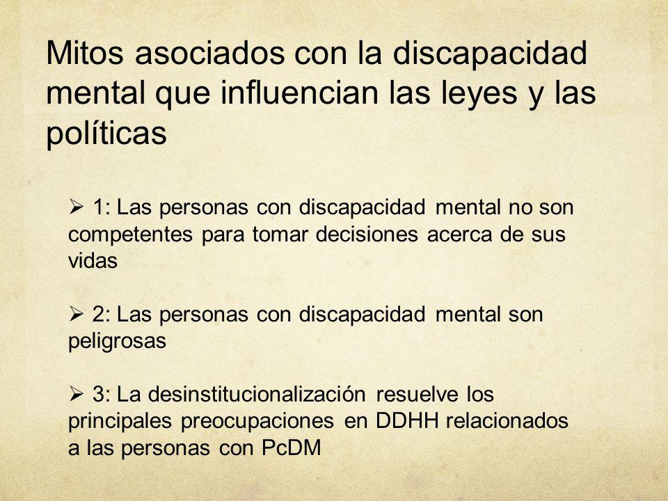 01/09/14 Mitos asociados con la discapacidad mental que influencian las leyes y las políticas.