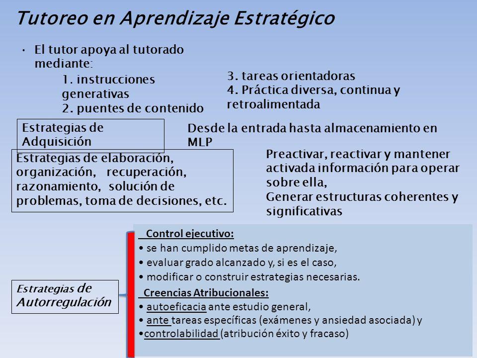Tutoreo en Aprendizaje Estratégico