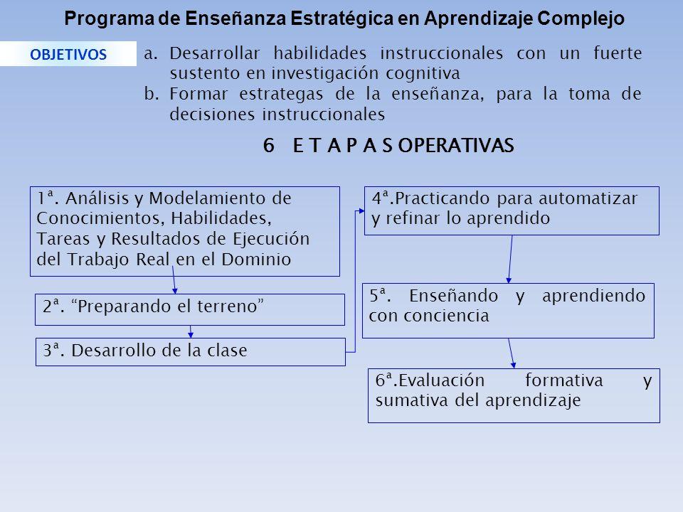 Programa de Enseñanza Estratégica en Aprendizaje Complejo