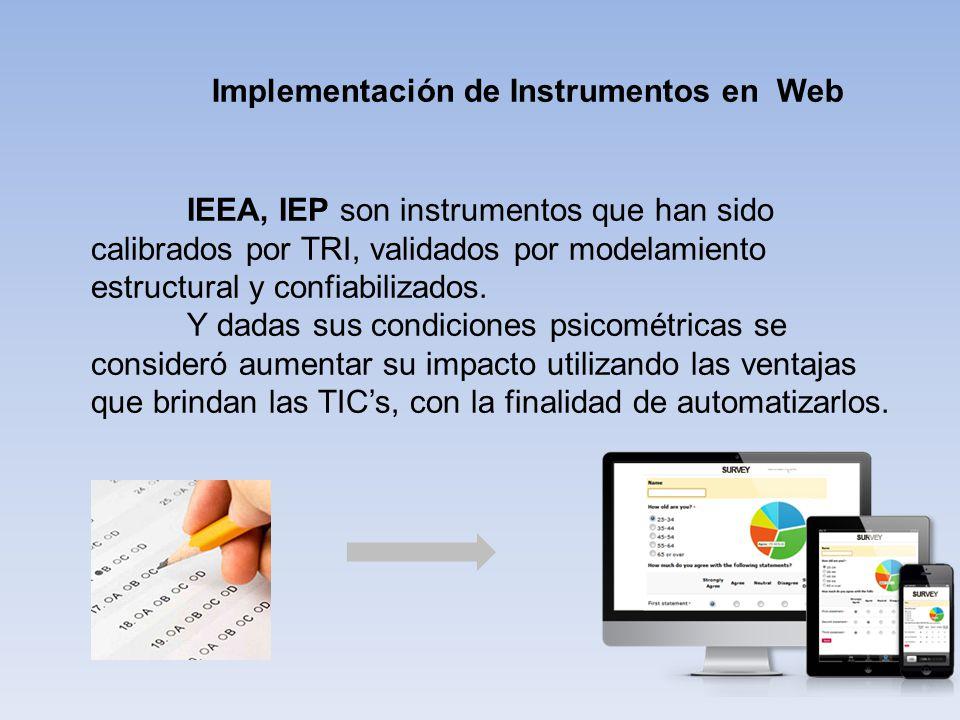 Implementación de Instrumentos en Web