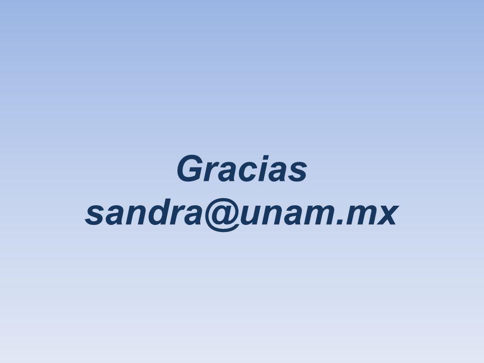 Gracias sandra@unam.mx