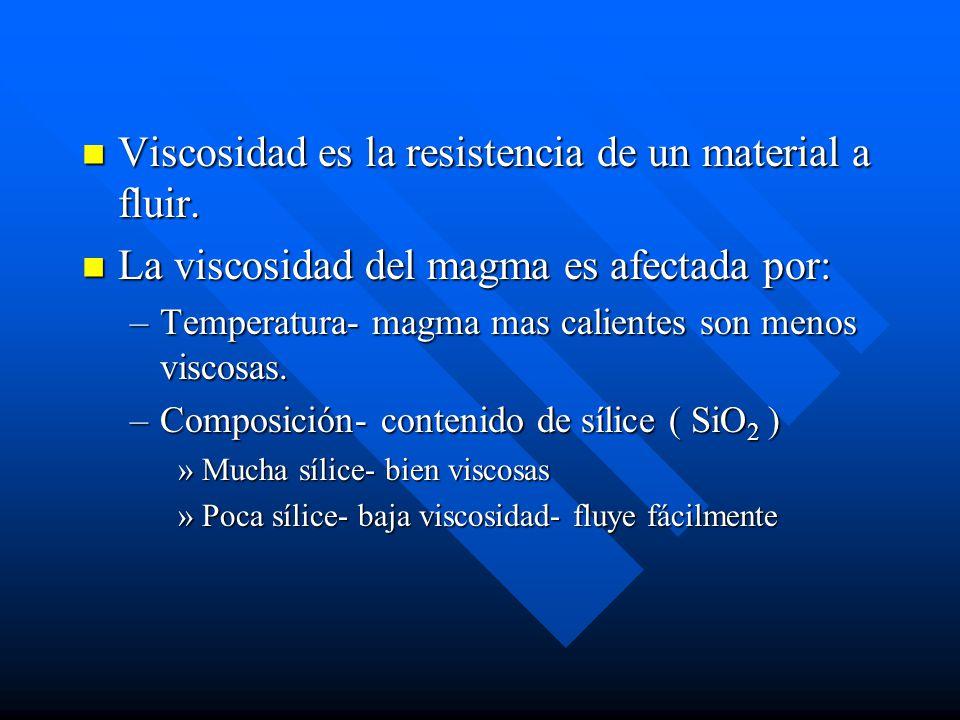 Viscosidad es la resistencia de un material a fluir.