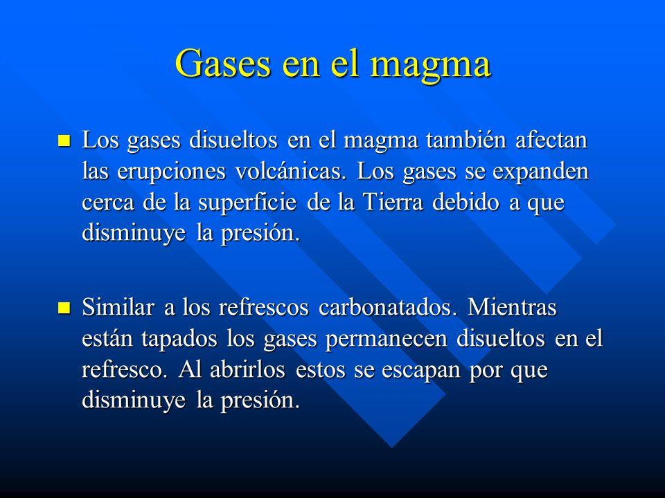 Gases en el magma