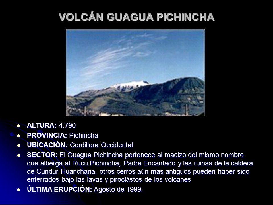 VOLCÁN GUAGUA PICHINCHA
