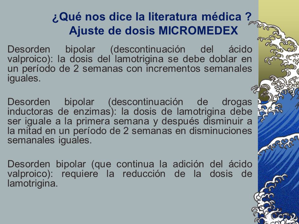 ¿Qué nos dice la literatura médica Ajuste de dosis MICROMEDEX