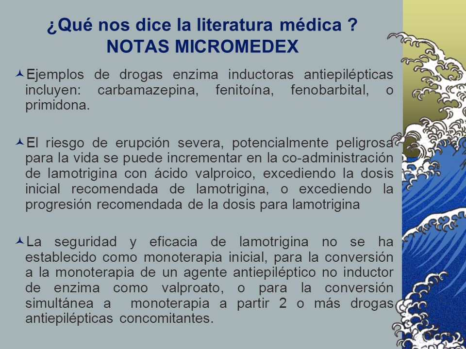 ¿Qué nos dice la literatura médica NOTAS MICROMEDEX