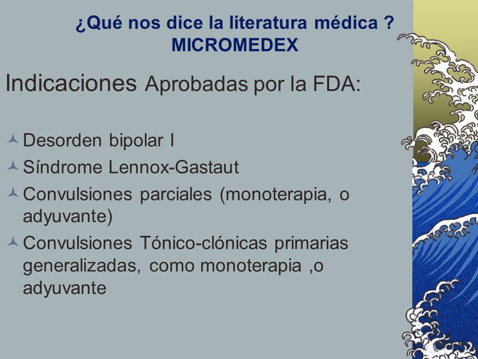 ¿Qué nos dice la literatura médica MICROMEDEX