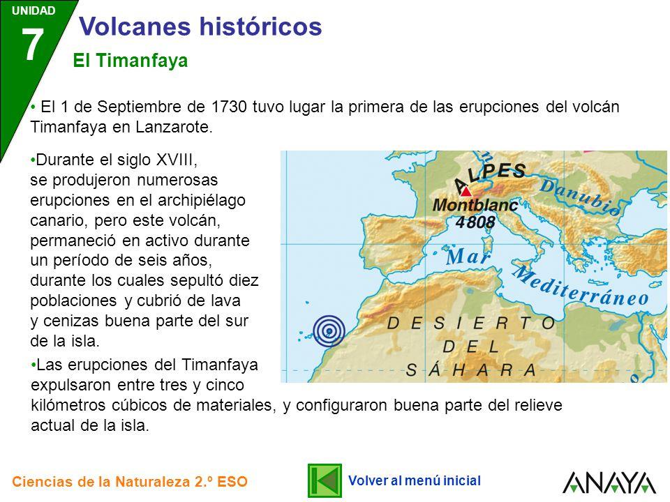 Volcanes históricos El Timanfaya
