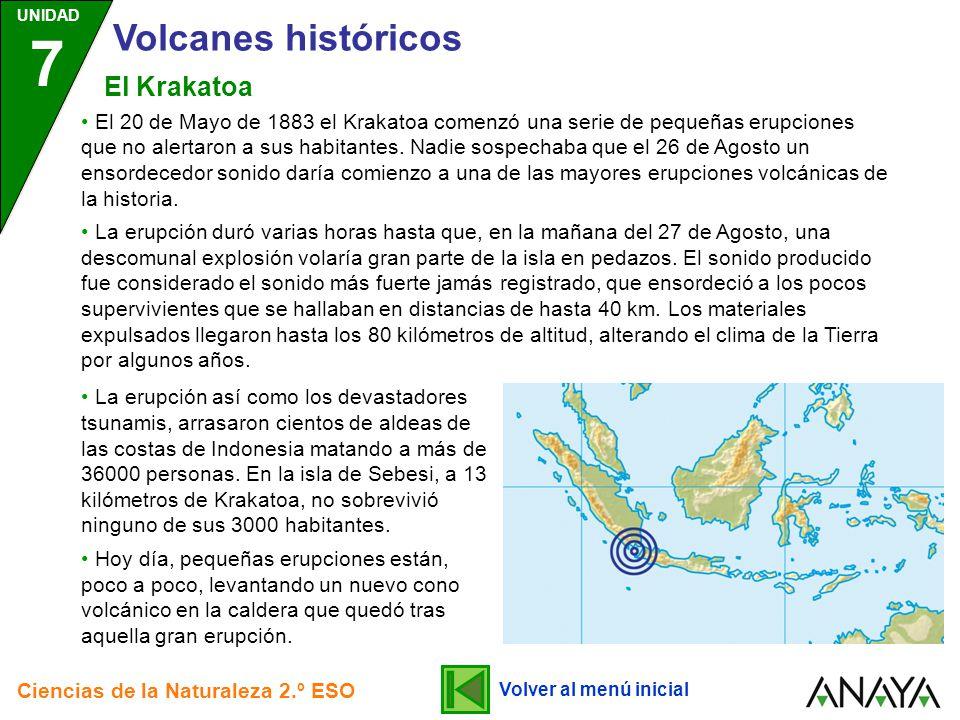 Volcanes históricos El Krakatoa