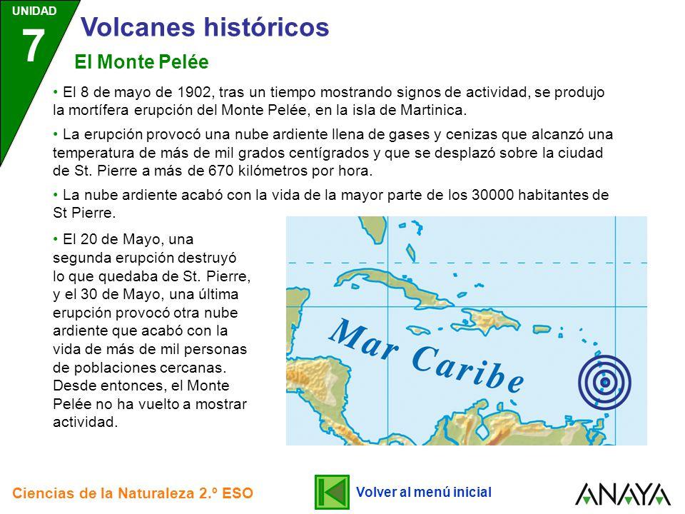 Volcanes históricos El Monte Pelée
