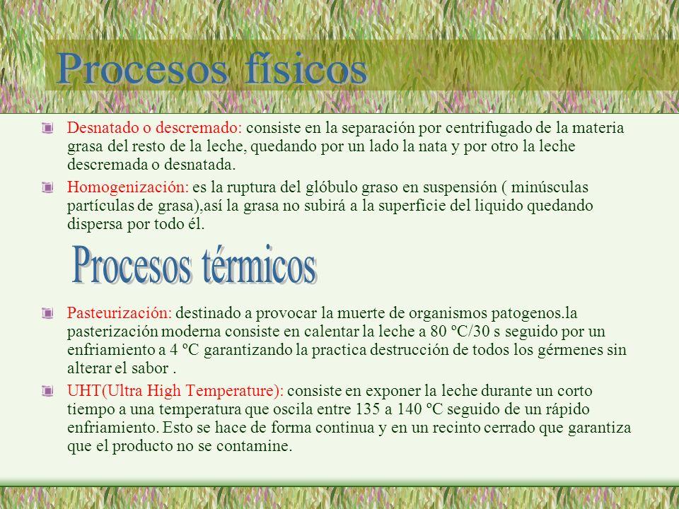 Procesos físicos Procesos térmicos