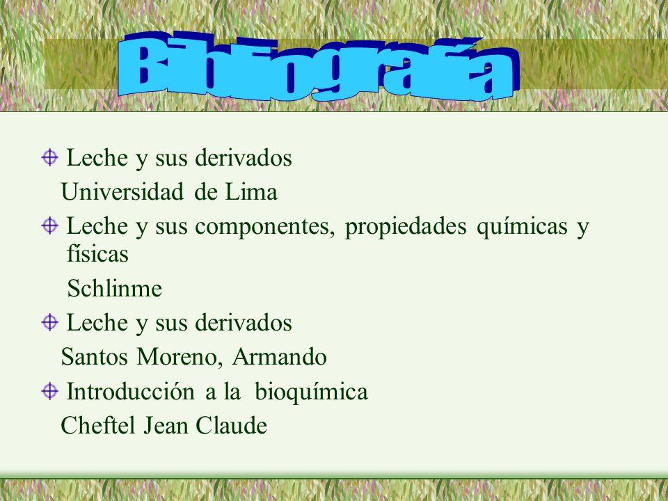 Bibliografía Leche y sus derivados Universidad de Lima