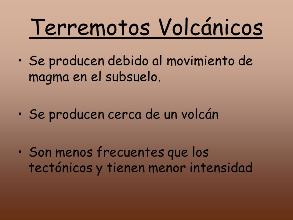 Terremotos Volcánicos