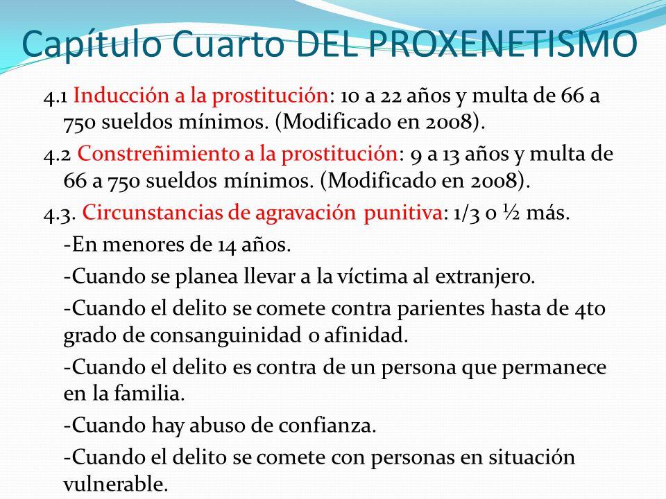Capítulo Cuarto DEL PROXENETISMO