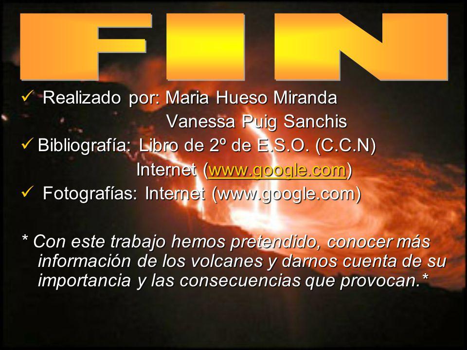 FIN Realizado por: Maria Hueso Miranda Vanessa Puig Sanchis