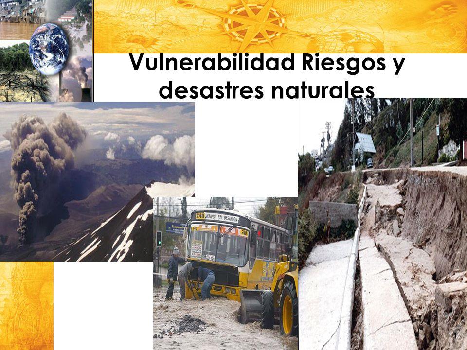 Vulnerabilidad Riesgos y desastres naturales