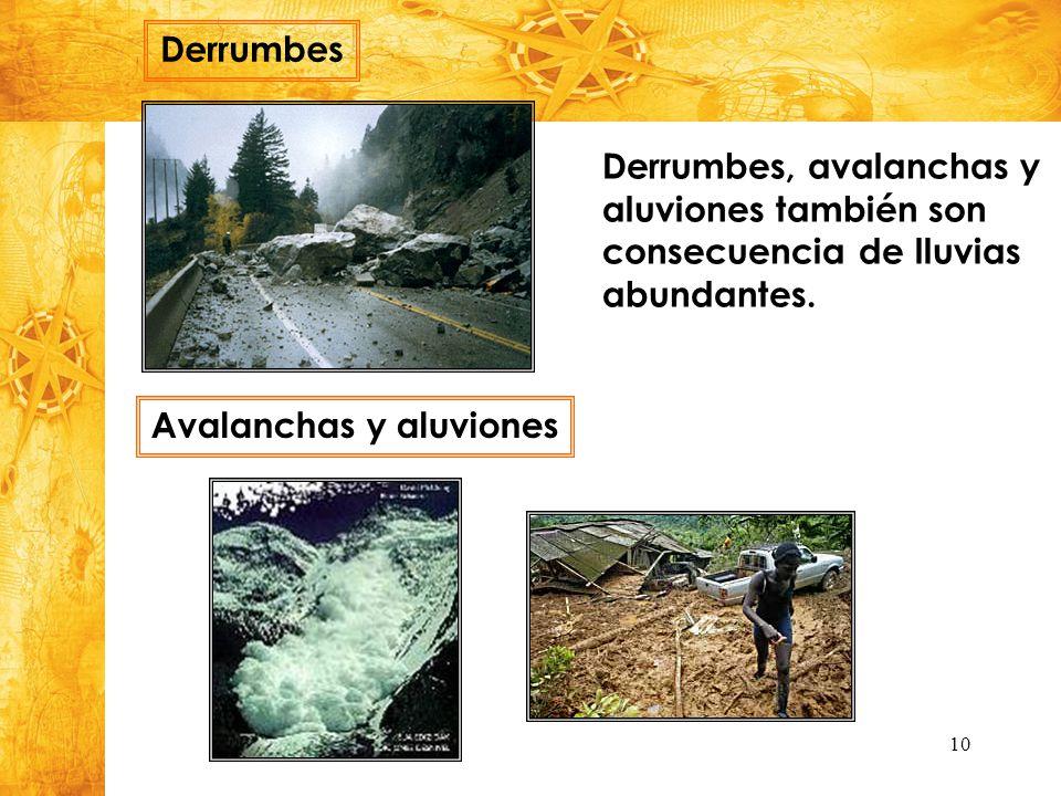Avalanchas y aluviones