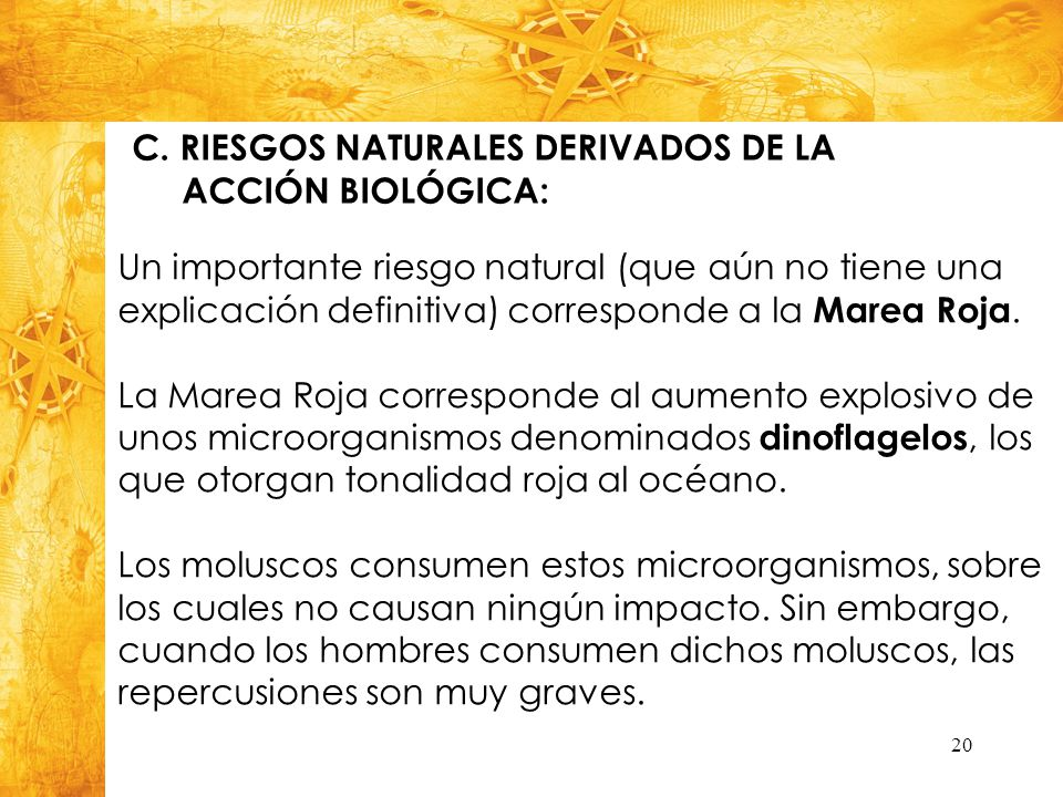 C. RIESGOS NATURALES DERIVADOS DE LA