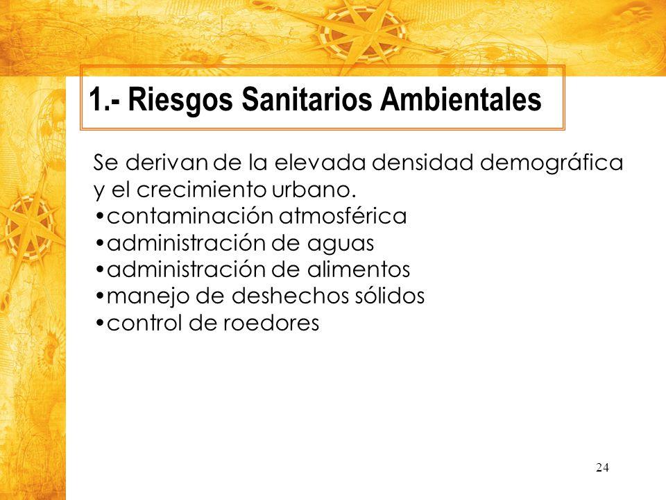 1.- Riesgos Sanitarios Ambientales