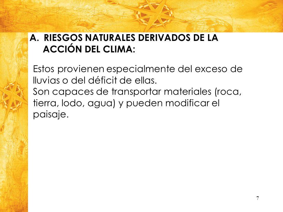 RIESGOS NATURALES DERIVADOS DE LA