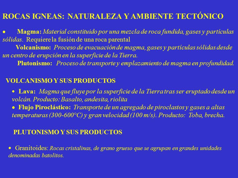 ROCAS IGNEAS: NATURALEZA Y AMBIENTE TECTÓNICO
