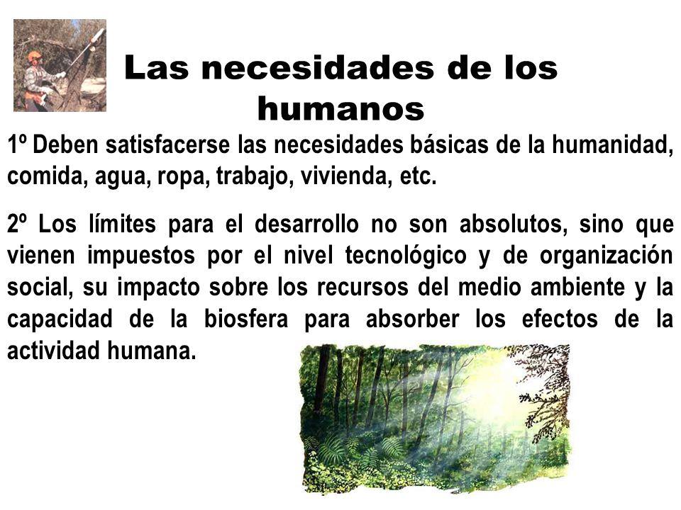 Las necesidades de los humanos