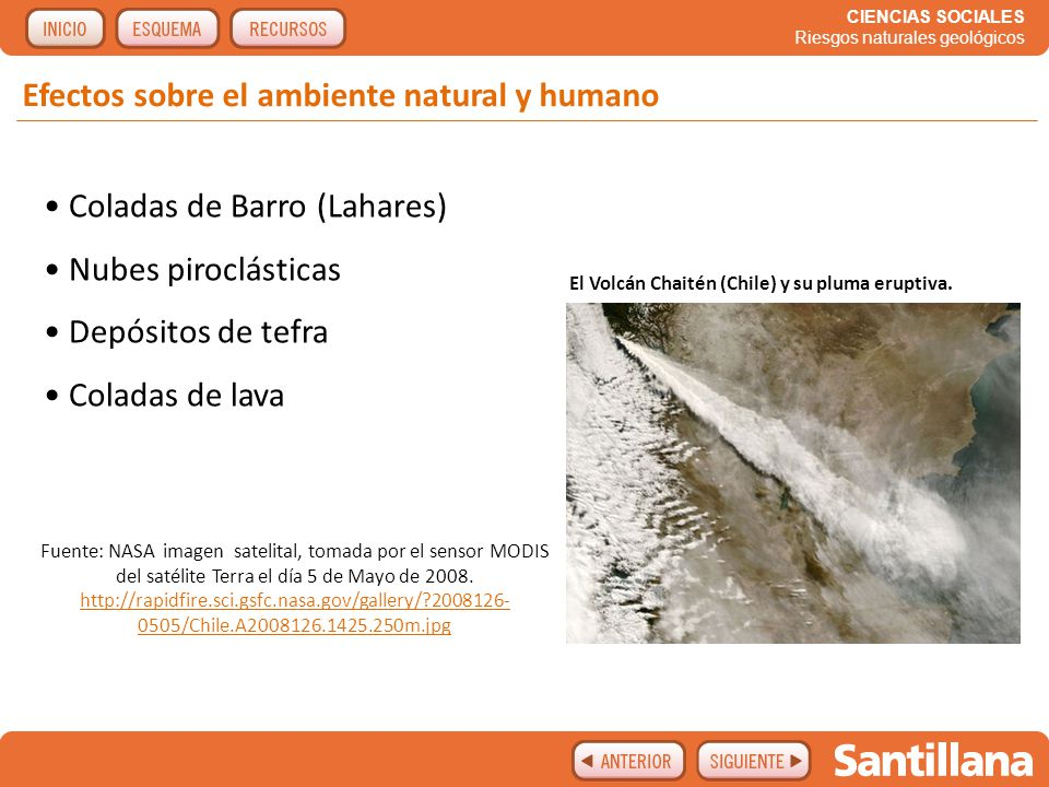 Efectos sobre el ambiente natural y humano