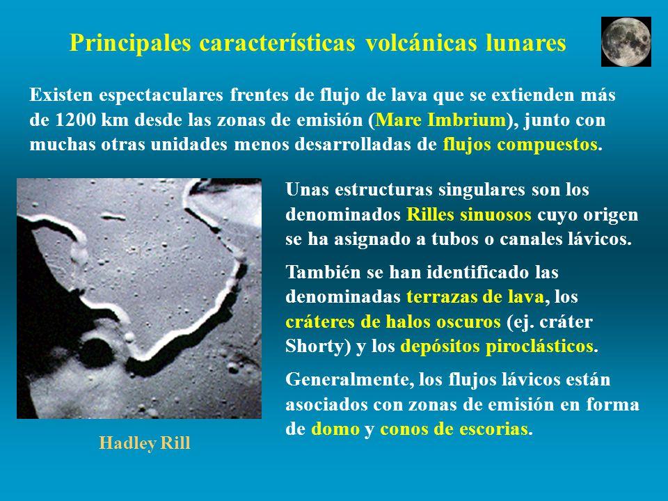 Principales características volcánicas lunares