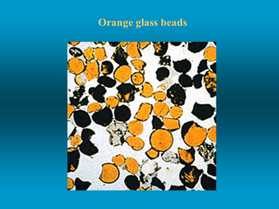 Orange glass beads