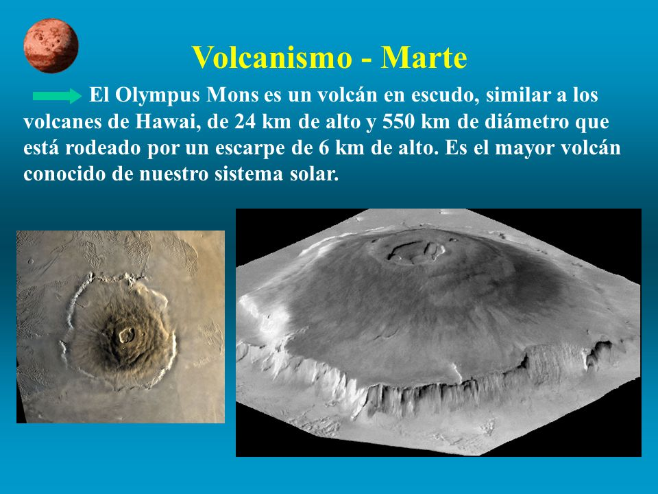 Volcanismo - Marte