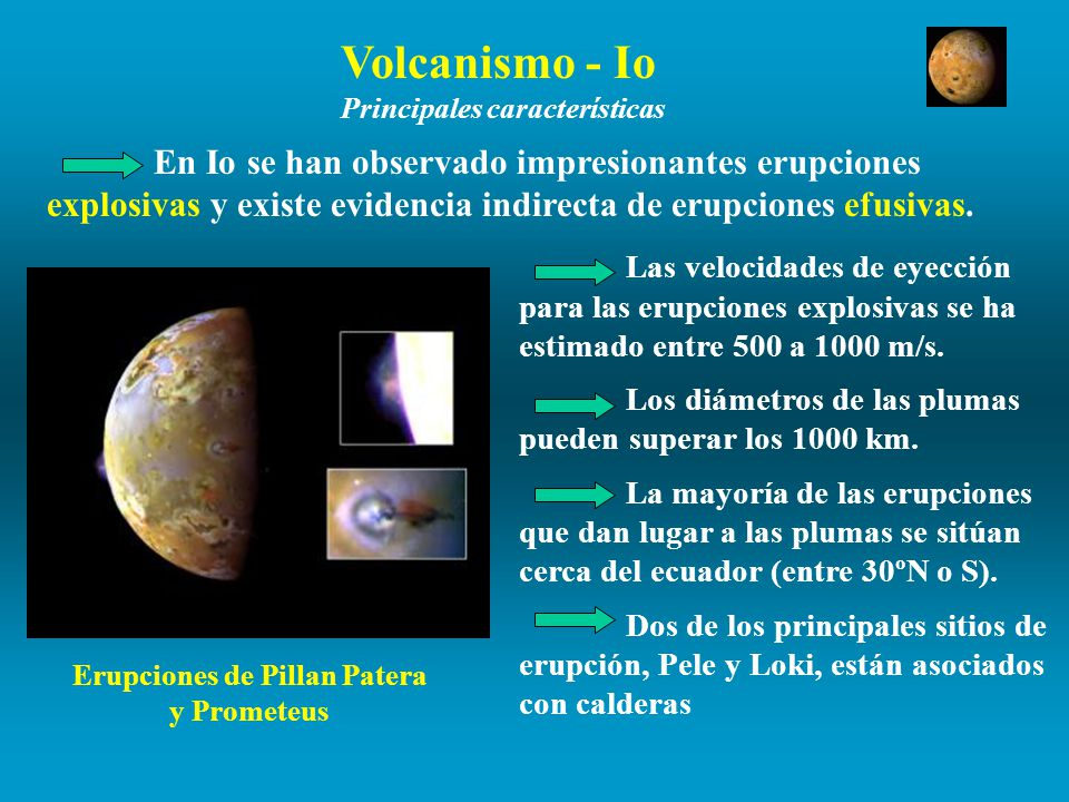 Erupciones de Pillan Patera y Prometeus