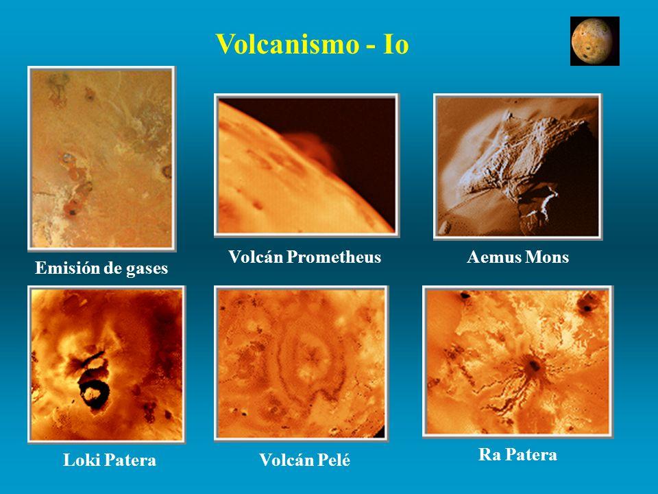 Volcanismo - Io Volcán Prometheus Aemus Mons Emisión de gases