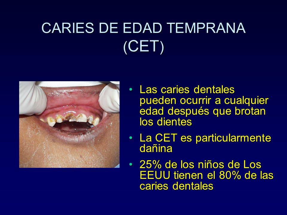 CARIES DE EDAD TEMPRANA (CET)