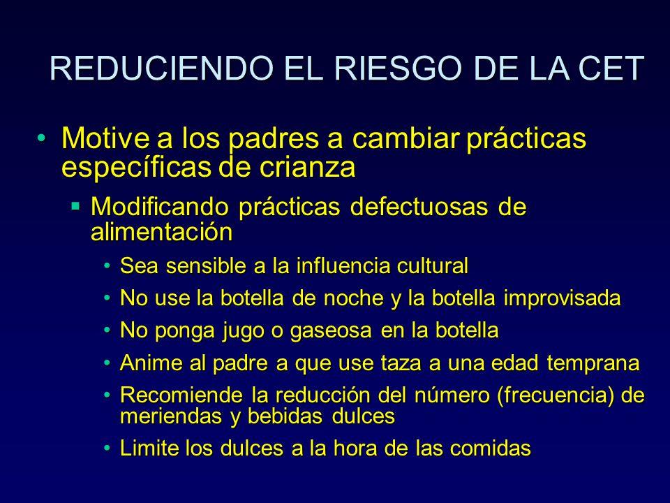 REDUCIENDO EL RIESGO DE LA CET