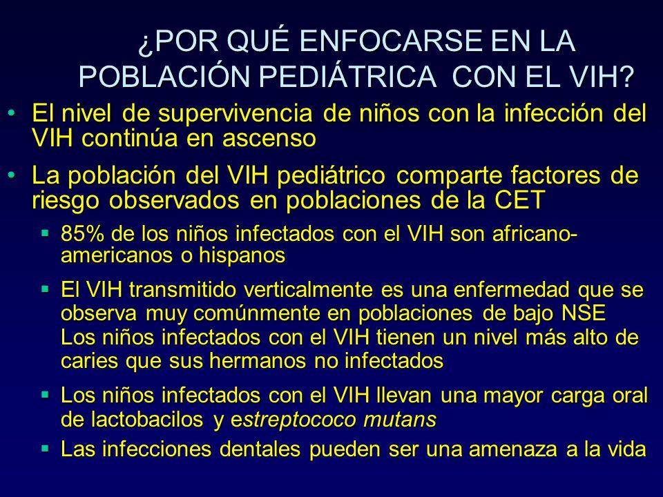 ¿POR QUÉ ENFOCARSE EN LA POBLACIÓN PEDIÁTRICA CON EL VIH