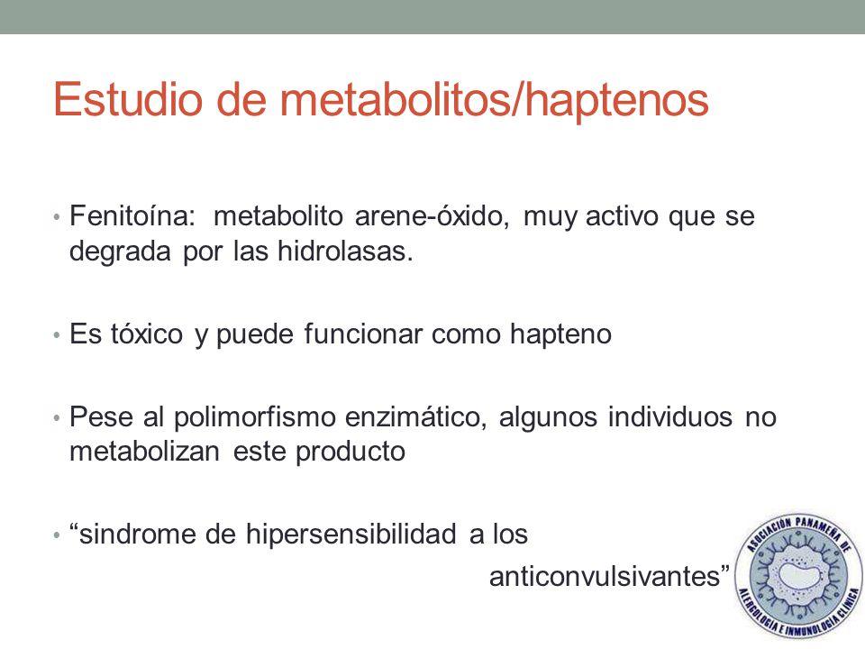 Estudio de metabolitos/haptenos