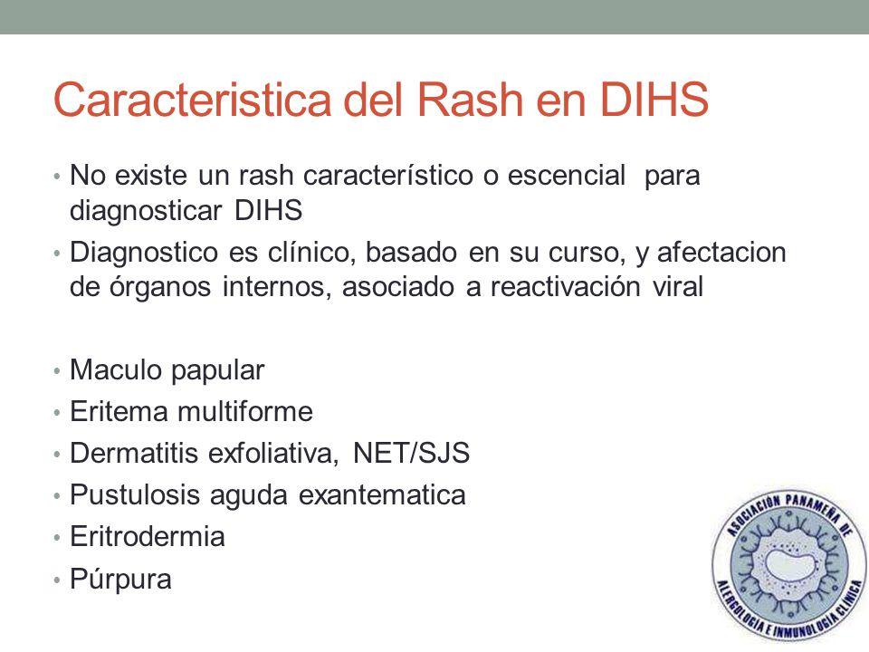 Caracteristica del Rash en DIHS