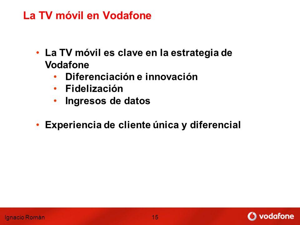 La TV móvil en Vodafone La TV móvil es clave en la estrategia de Vodafone. Diferenciación e innovación.