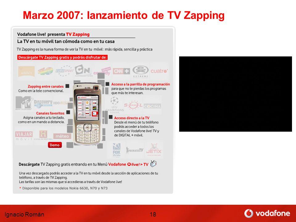 Marzo 2007: lanzamiento de TV Zapping