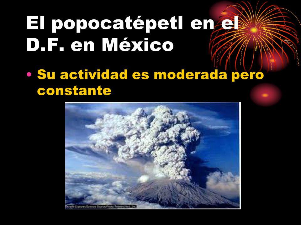 El popocatépetl en el D.F. en México